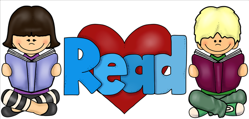 Girl and boy reading, read with heart