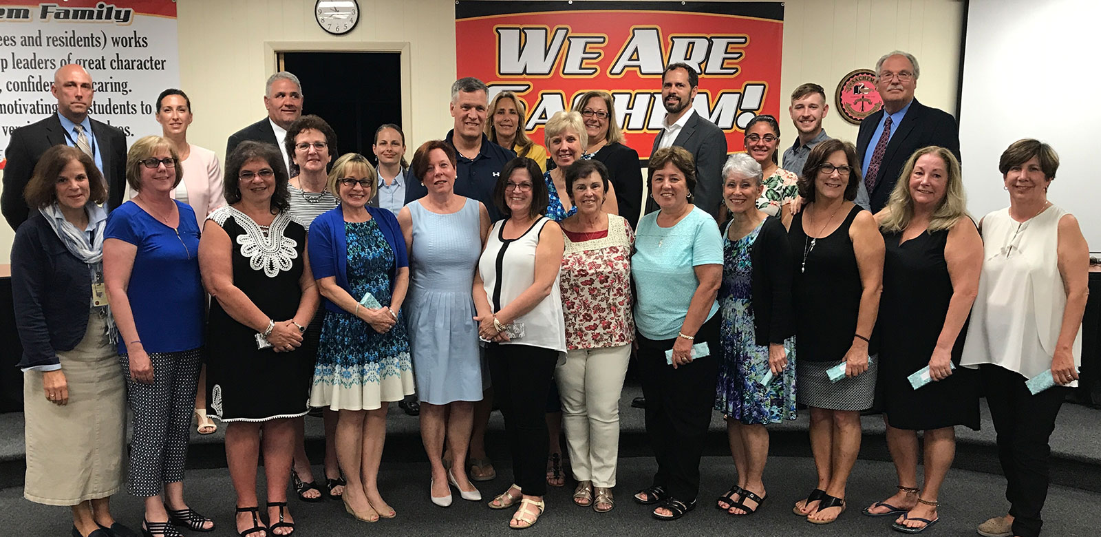 Sachem Honors Retirees at Board of Education Meeting