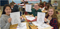 Drawn Lines Lead to Vibrant Math Creations photo