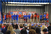 Wenonah Celebrates Flag Day With Patriotic Display 2