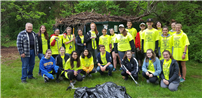 Envirothon Club Volunteers for Great Brookhaven Cleanup